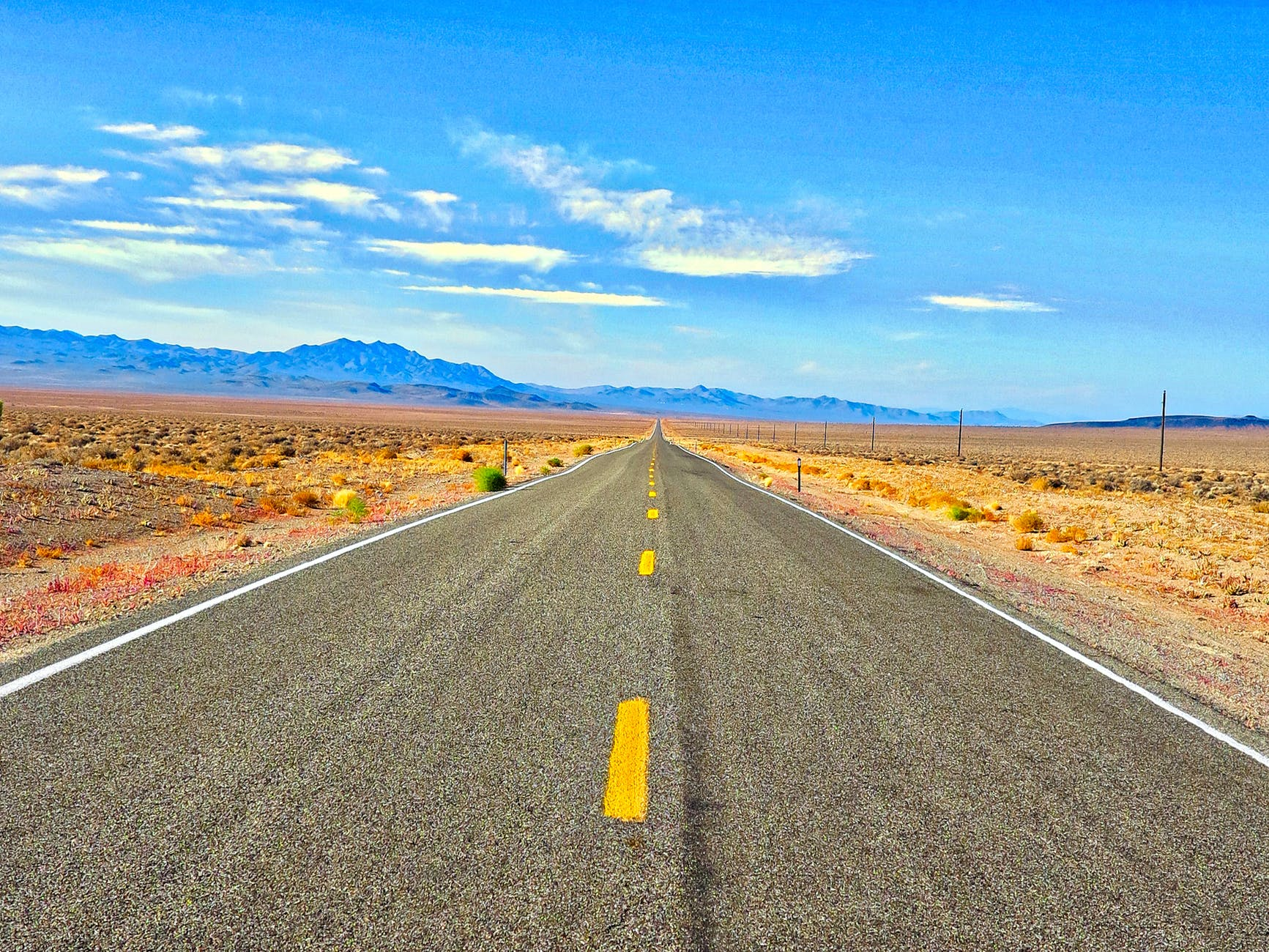 arizona asphalt beautiful blue sky